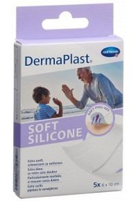 DERMAPLAST Soft Silicone 6x10cm 5 Stk
