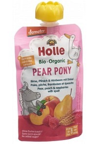 HOLLE Pear Pony Pouchy Birne Pfirs Himb Dink 100 g