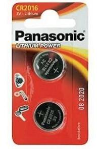PANASONIC Batterien Knopfzelle CR2016 2 Stk