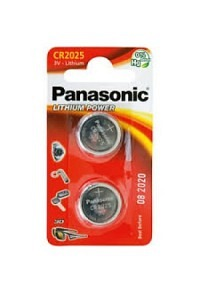 PANASONIC Batterien Knopfzelle CR2025 2 Stk