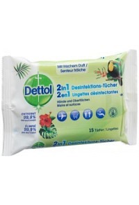 DETTOL 2in1 Desinfektions-Tücher 15 Stk