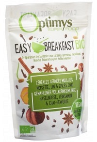 OPTIMYS Easy Breakfast Haseln Leins Chai Bio 350 g