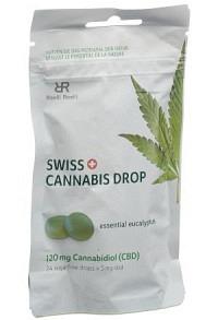 SWISS CANNABIS Drop 120 mg CBD Eukalyp Btl 24 Stk
