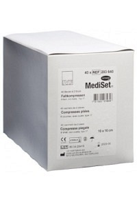 MEDISET IVF Faltkomp Watte 10x10cm 8f 40 x 2 Stk