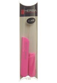HERBA Glasnagelfeile mit Schutzkappe 13cm rosa