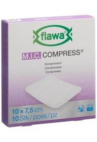 FLAWA MIC Kompressen 7.5x10cm nicht steril 10 Stk