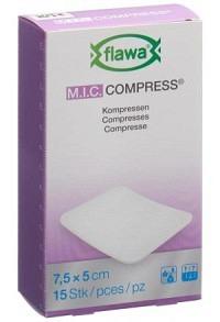 FLAWA MIC Kompressen 7.5x5cm nicht steril 15 Stk