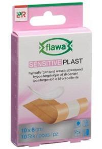 FLAWA SENSITIVE Plast Pflasterstreif 6x10cm 10 Stk