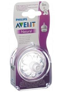 AVENT PHILIPS Naturnah-Sauger Neugeborene 2 Stk