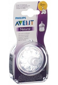 AVENT PHILIPS Natural Sauger 1 0M 2 Stk