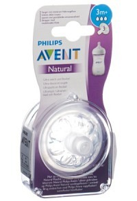 AVENT PHILIPS Natural Sauger 3 3M+ 2 Stk