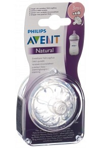 AVENT PHILIPS Natural Sauger 3M+ 2 Stk
