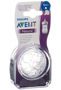 AVENT PHILIPS Natural Sauger 6M+ 2 Stk