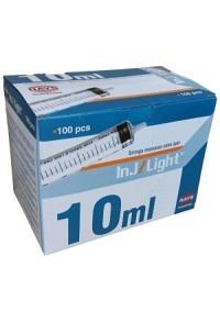 INJ/LIGHT Einwegspritze 10ml 3-teilig 25 Stk