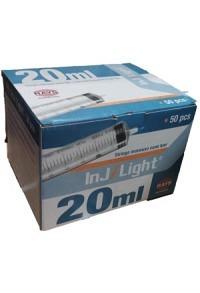 INJ/LIGHT Einwegspritze 20ml 3-teilig 25 Stk