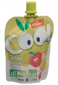 VITABIO Quetschmus Apfel und Birne Btl 90 g