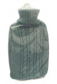 FROSCH Wärmflasche PVC 1.8l Strickbezug pastellbla