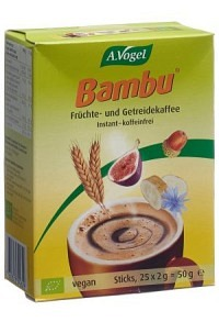 VOGEL Bambu Früchtekaffee instant 25 Stick 2 g