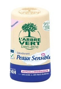 L'ARBRE VERT Öko Deo Roll on Empf Haut FR 50 ml