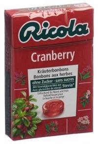 RICOLA Cranberry Bonbons oZ m Stevia Box 50 g