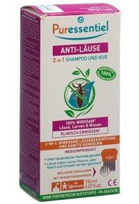 PURESSENTIEL Anti-Läuse-Shampoo-Maske +Kamm 150 ml