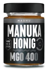 MADHU HONEY Manuka Honig MGO400 Glas 250 g
