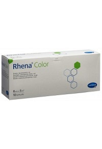 RHENA Color Elast Binde 8cmx5m rot offen 10 Stk