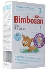 BIMBOSAN HA 1 Säuglingsmilch Reiseportion 5 x 25 g