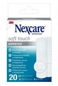 3M NEXCARE Pflaster Soft Touch 3 Gröss ass 20 Stk