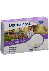 DERMAPLAST Compress Gel 5x7.5cm 20 Stk