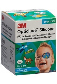 3M OPTICLUDE Sil Augenv 5x6cm Mini Boys (n) 50 Stk