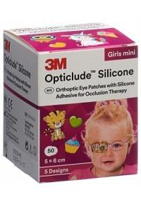 3M OPTICLUDE Sil Augenv 5x6cm Mini Girl (n) 50 Stk