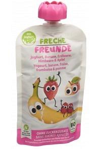 FRECHE FREUNDE Quetschmus Jogh Erdbeer&Himb 100 g