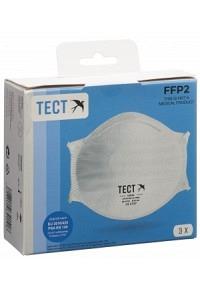 TECT FFP2 Schalenmaske ohne Ventil 3 Stk