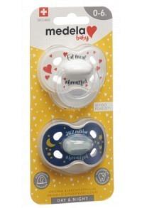 MEDELA Baby Schnuller Day&Night 0-6 Unisex 2 Stk
