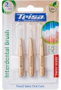 TRISA Interdental Brush ISO 2 0.9mm Holz 3 Stk