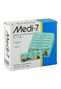 MEDI 7 Medikamentendosier 7 Tage türkis D/F/I