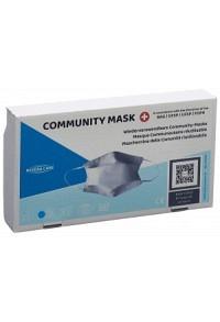 NEXERACARE COMMUNITY MASK TESTEX L blau 3 Stk