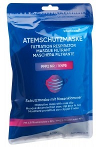INTERHEALTH Faltmaske FFP2 ohne Ventil 5 Stk