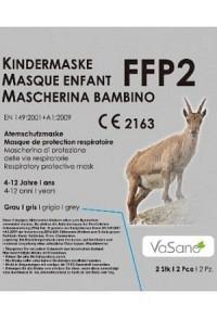 VASANO Maske FFP2 Kind 4-12 J grau D/I/F 2 Stk