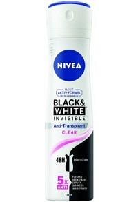 NIVEA Fem Deo Inv Bla&Whi Aeros Cle (n) Spr 150 ml