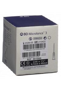 BD MICROLANCE 3 Inj Kanüle 0.70x40mm schwa 100 Stk