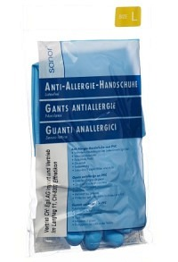 SANOR Anti Allergie Handschuhe PVC L blau 1 Paar